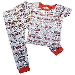 🍒3/$20 CARTERS Firetruck Red White PJ Set 2T boys